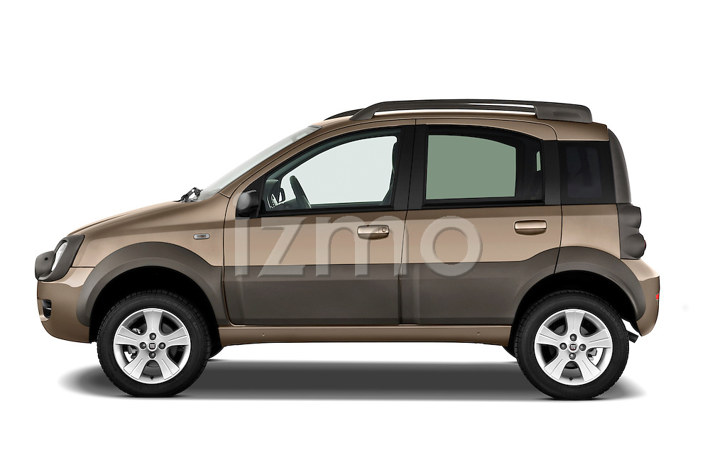 Driver side profile view of a 2009 Fiat Panda 5 Door 4x4.