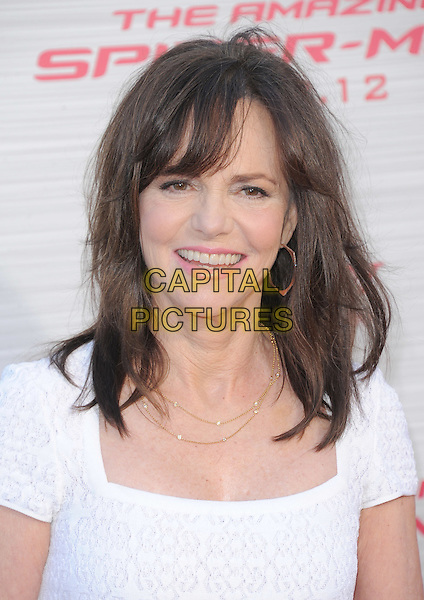 Sally Field.'The Amazing Spider-Man' Premiere held at Regency Village Theater in Westwood, California, USA. .June 28th, 2012.headshot portrait white.CAP/RKE/DVS.©DVS/RockinExposures/Capital Pictures.