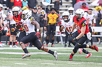 College Park, MD - April 22, 2017: Maryland Terrapins wide receiver DJ Turner (10) in action during game the Maryland Spring Game at  Capital One Field at Maryland Stadium in College Park, MD.  (Photo by Elliott Brown/Media Images International)