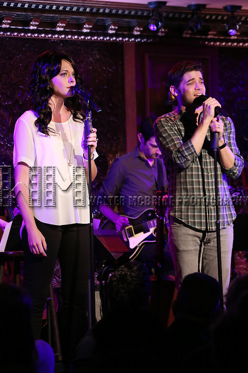 Ashley Spencer and Jeremy Jordan perform in 'Breaking Character' at 54 Below on November 12, 2014 in New York City.