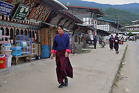 A school girl coming back from school in her national dress at Jakar in Bumthang, Bhutan. Arindam Mukherjee.