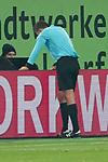 11.03.2019, Merkur Spielarena, Duesseldorf , GER, 1. FBL,  Fortuna Duesseldorf vs. Eintracht Frankfurt,<br />  <br /> DFL regulations prohibit any use of photographs as image sequences and/or quasi-video<br /> <br /> im Bild / picture shows: <br /> Schiedsrichter / referee Robert Hartmann (SR) vor dem Videobildschirm<br /> <br /> Foto &copy; nordphoto / Meuter
