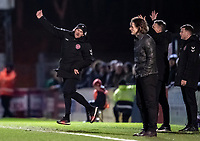 Fleetwood Town's manager Joey Barton (left) shows his frustration<br /> <br /> Photographer Andrew Kearns/CameraSport<br /> <br /> The EFL Sky Bet League One - Wycombe Wanderers v Fleetwood Town - Tuesday 11th February 2020 - Adams Park - Wycombe<br /> <br /> World Copyright © 2020 CameraSport. All rights reserved. 43 Linden Ave. Countesthorpe. Leicester. England. LE8 5PG - Tel: +44 (0) 116 277 4147 - admin@camerasport.com - www.camerasport.com