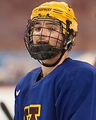 Gabe Guertler (MN - 27) - The University of Minnesota Golden Gophers practiced on Wednesday, April 9, 2014, at the Wells Fargo Center in Philadelphia, Pennsylvania during the 2014 Frozen Four.