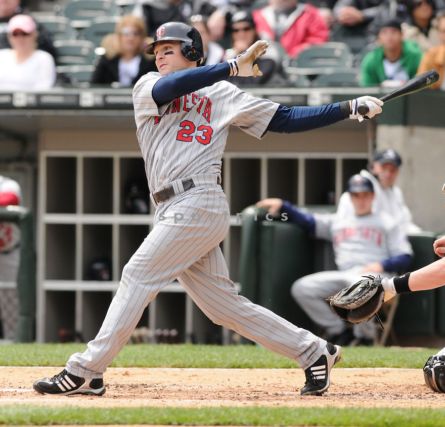BRENDAN HARRIS, of the Minnesota Twins , in action against the Chicago White Sox during the their  game in Chicago, IL on May 8, 2008. The Twins win 13-1.