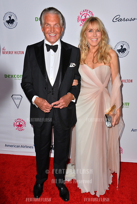 LOS ANGELES, CA. October 06, 2018: George Hamilton &amp; Alana Stewart at the 2018 Carousel of Hope Ball at the Beverly Hilton Hotel.<br /> Picture: Paul Smith/Featureflash