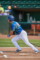Matt Cogen (49) of the Ogden Raptors bats against the Idaho Falls Chukars at Lindquist Field on July 29, 2018 in Ogden, Utah. The Raptors defeated the Chukars 20-19. (Stephen Smith/Four Seam Images)