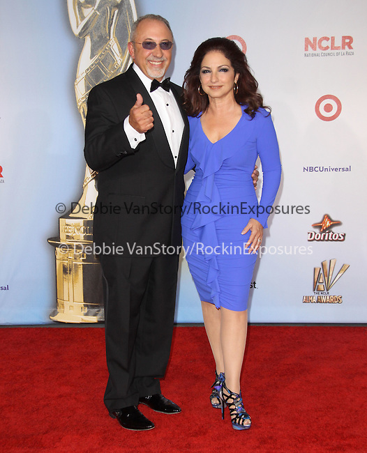 Gloria Estefan and Emilio Estefan Jr at The 2011 NCLR ALMA Awards® held at the Santa Monica Civic Auditorium in Santa Monica, California on September 10,2011                                                                               © 2011 Hollywood Press Agency