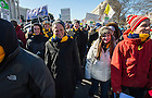 Jan. 22, 2014; University president, Rev. John Jenkins C.S.C., walks with Notre Dame students during the 2014 March for Life in Washington, D.C. Photo by Barbara Johnston/University of Notre Dame
