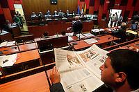 una seduta del consiglio comunale di napoli