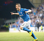 St Johnstone v FC Luzern...24.07.14  Europa League 2nd Round Qualifier<br /> Tam Scobbie celebrates scoring the winning penalty<br /> Picture by Graeme Hart.<br /> Copyright Perthshire Picture Agency<br /> Tel: 01738 623350  Mobile: 07990 594431