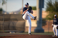 AZL Padres 2 starting pitcher Ryan Weathers (40) delivers a pitch during an Arizona League game against the AZL Padres 1 at Peoria Sports Complex on July 25, 2018 in Peoria, Arizona. The AZL Padres 1 defeated the AZL Padres 2 10-1. (Zachary Lucy/Four Seam Images)