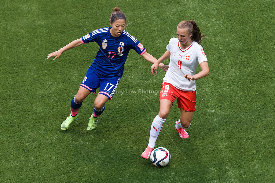 June 8, 2015: Lia WAELTI of Switzerland controls the ball during a Group C match at the FIFA Women's World Cup Canada 2015 between Japan and Switzerland at BC Place Stadium on 8 June 2015 in Vancouver, Canada. Sydney Low/AsteriskImages