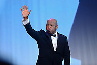 Washington, DC - September 10, 2016: Civil rights icon and U.S. Representative John Lewis waves to the audience after speaking at the Human Rights Campaign National Dinner at the Washington Convention Center in the District of Columbia, September 10, 2016.  (Photo by Don Baxter/Media Images International)