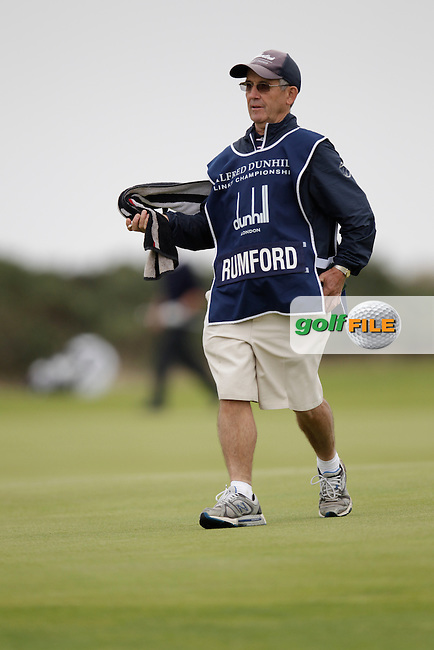 Brett Rumford (AUS)  and Caddy John Roberts (Ronnie) on day two of the Alfred Dunhill links Championship Old Course, St Andrews, Fife, Scotland.<br /> Picture Fran Caffrey www.golffile.ie