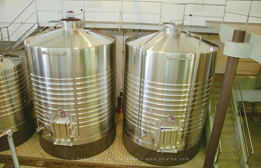 Fermentation tanks. Chateau Branaire-Ducru, Saint Julien, Medoc, Bordeaux, France