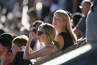 Female fans in the crowd during the Black Caps v Australia international T20 cricket match at Eden Park in Auckland, New Zealand. 16 February 2018. Copyright Image: Peter Meecham / www.photosport.nz
