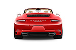 Straight rear view of 2017 Porsche 911 Carrera 2 Door Convertible Rear View  stock images