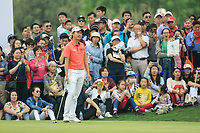 Jeunghun Wang (KOR) during the final round of the Volvo China Open played at Topwin Golf and Country Club, Huairou, Beijing, China 26-29 April 2018.<br /> 29/04/2018.<br /> Picture: Golffile | Phil Inglis<br /> <br /> <br /> All photo usage must carry mandatory copyright credit (&copy; Golffile | Phil Inglis)