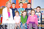 Junior Infants in the Black Valley National School Enya Schmidt, Jasmine Durkin, Serena O'Sullivan, Leon O'Sullivan, Adem Gul, Michael O'Connor and Sean O'Sullivan pictured with their teacher Janice Gaine on Friday.