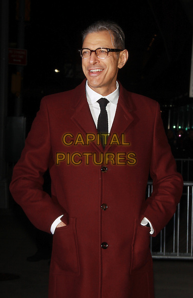 NEW YORK, NY - FEBRUARY 26 2014 -Jeff Goldblum at the premiere of the Grand Budapest Hotel at Alice Tully Hall Lincoln Center in New York .Credit: RW/MediaPunch<br /> CAP/MPI/RW<br /> &copy;RW/ MediaPunch/Capital Pictures