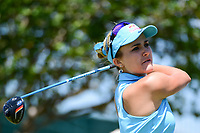 Lexi Thompson (USA) watches her tee shot on 10 during round 1 of  the Volunteers of America Texas Shootout Presented by JTBC, at the Las Colinas Country Club in Irving, Texas, USA. 4/27/2017.<br /> Picture: Golffile | Ken Murray<br /> <br /> <br /> All photo usage must carry mandatory copyright credit (&copy; Golffile | Ken Murray)