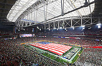 The National Anthem is sung before the start of the Fiesta Bowl at University of Phoenix Stadium in Glendale, AZ on January 1, 2016.  (Chris Russell/Dispatch Photo)