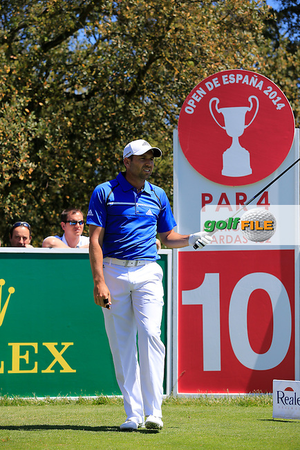 Sergio Garcia (ESP) during Wednesday's Pro-Am of the 2014 Open de Espana held at the PGA Catalunya Resort, Girona, Spain. Wednesday 14th May 2014.<br /> Picture: Eoin Clarke www.golffile.ie