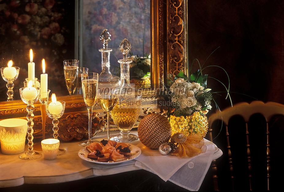 Gastronomie générale/Repas de Réveillon: Buffet de Noël
