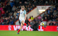 Tom Davies (Everton) of England U21 hits a shot at goal during the UEFA EURO U-21 First qualifying round International match between England 21 and Latvia U21 at the Goldsands Stadium, Bournemouth, England on 5 September 2017. Photo by Andy Rowland.