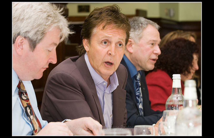 Sir Paul McCartney MBE - Ian Cawsey MP (left) and the late Tony Banks (right) - Vegetarian Society - House of Commons - 19th May 2005 - <br /> <br /> The Vegetarian Society of the United Kingdom is the oldest vegetarian  organisation in the world. It is an educational charity  promoting understanding and respect for vegetarian lifestyles.