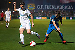 Fuenlabrada Fran Garcia and Real Madrid Marco Asensio during Copa del Rey match between Fuenlabrada and Real Madrid at Fernando Torres Stadium in Madrid, Spain. October 26, 2017. (ALTERPHOTOS/Borja B.Hojas)