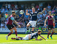 Millwall's Ryan Tunnicliffe win the penalty decision for his club during the Sky Bet Championship match between Millwall and Aston Villa at The Den, London, England on 6 May 2018. Photo by Andrew Aleksiejczuk / PRiME Media Images.