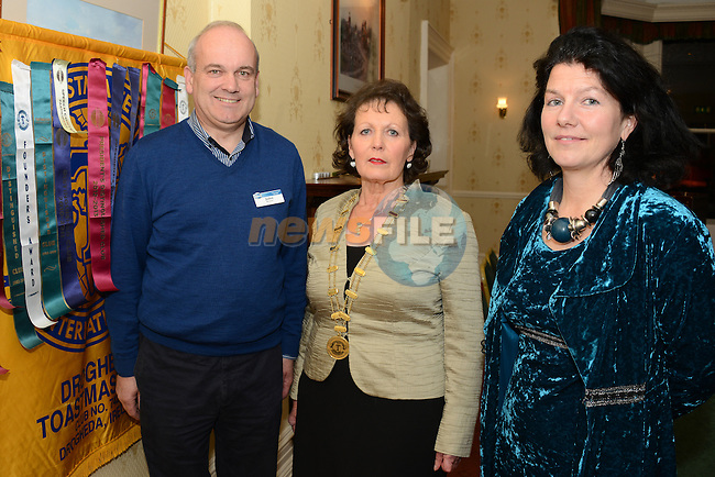 Patricia Moran (centre), President of Drogheda Toastmasters with John Boylan and Jackie Tobin.Photo: Andy Spearman. www.newsfile.ie