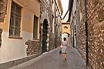 Street scene in Como, Italy a city on Lake Como