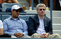September 2, 2012: Canadian Prime Minister Stephen Harper attends Day 7 of the 2012 U.S. Open Tennis Championships at the USTA Billie Jean King National Tennis Center in Flushing, Queens, New York, USA. © mpi105/MediaPunch Inc. /NortePhoto.com<br />