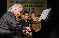 SAO PAULO, SP, 09 AGOSTO 2012 - ABERTURA BIENAL INTERNACIONAL DO LIVRO - Maestro Joao Carlos Martins durante cerimonia de abertura da 22ª  Bienal Internacional do Livro de São Paulo, no Anhembi na regiao norte da capital paulista, nesta quinta-feira, 09. (FOTO: VANESSA CARVALHO / BRAZIL PHOTO PRESS).