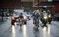 World Champion Michal Kwiatkowski (POL/Ettix-Quickstep) checks out the competition in the race finale<br /> <br /> 70th Dwars Door Vlaanderen 2015