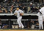 Masahiro Tanaka (Yankees), APRIL 9, 2014 - MLB : New York Yankees starting pitcher Masahiro Tanaka walks to the mound during the MLB game between the New York Yankees and the Baltimore Orioles at Yankee Stadium in The Bronx, New York, United States. (Photo by AFLO)