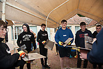 Coatbridge, Portland, St. Ambrose and St. Andrew's High School pupils visit the Scottish Lime Centre Trust.  04 Oct 2017. Copyright photograph by Tina Norris. Not to be archived or reproduced without prior permission and payment. Contact Tina on 07775 593 830 info@tinanorris.co.uk www.tinanorris.co.uk http://tinanorris.photoshelter.com