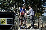 French Champion Warren Barguil (FRA) Arkea-Samsic at sign on before the start of Stage 17 of the 2019 Tour de France running 200km from Pont du Gard to Gap, France. 24th July 2019.<br /> Picture: ASO/Pauline Ballet | Cyclefile<br /> All photos usage must carry mandatory copyright credit (© Cyclefile | ASO/Pauline Ballet)