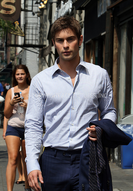 WWW.ACEPIXS.COM....August 2 2012, New York City....Actor Chace Crawford on the set of the TV show 'Gossip Girl' on August 2 2012 in New York City....By Line: Nancy Rivera/ACE Pictures......ACE Pictures, Inc...tel: 646 769 0430..Email: info@acepixs.com..www.acepixs.com