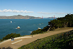 California: San Francisco. Land's End view of the Golden Gate. Photo copyright Lee Foster. Photo #: 25-casanf75841