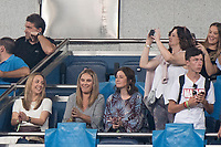 Uefa Champions League football match Real Madrid vs AS Roma at the Santiago Bernabeu stadium in Madrid on September 19, 2018.<br />  <br /> Vanja Bosnic (L), Luca Modric's wife