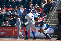 Grant Kay (17) of the Durham Bulls at bat against the Lehigh Valley Iron Pigs at Coca-Cola Park on July 30, 2017 in Allentown, Pennsylvania.  The Bulls defeated the IronPigs 8-2.  (Brian Westerholt/Four Seam Images)