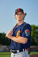 Connecticut Tigers Kingston Liniak (17) poses for a photo before a NY-Penn League game against the Auburn Doubledays on July 12, 2019 at Falcon Park in Auburn, New York.  Auburn defeated Connecticut 7-5.  (Mike Janes/Four Seam Images)