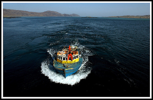 Lobster boat, between South Uist and Eriskay .... Picture by Donald MacLeod