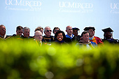 Merced, CA - May 16, 2009 -- First lady Michelle Obama appears at the University of California at Merced commencement, where she later delivered an address in Merced, California on Thursday, May 16, 2009..Credit: Samantha Appleton - White House via CNP