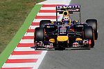 Red Bull's driver Daniel Ricciardo drives during a practice session at the Circuit de Catalunya on May 9, 2014. <br /> PHOTOCALL3000/PD