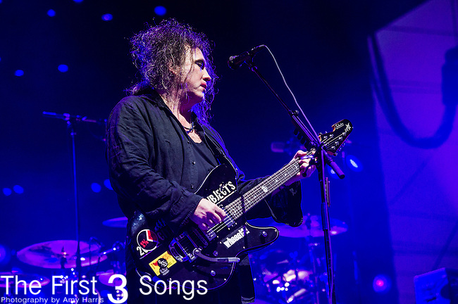 Robert Smith of The Cure performs at the 2nd Annual BottleRock Napa Festival at Napa Valley Expo in Napa, California.